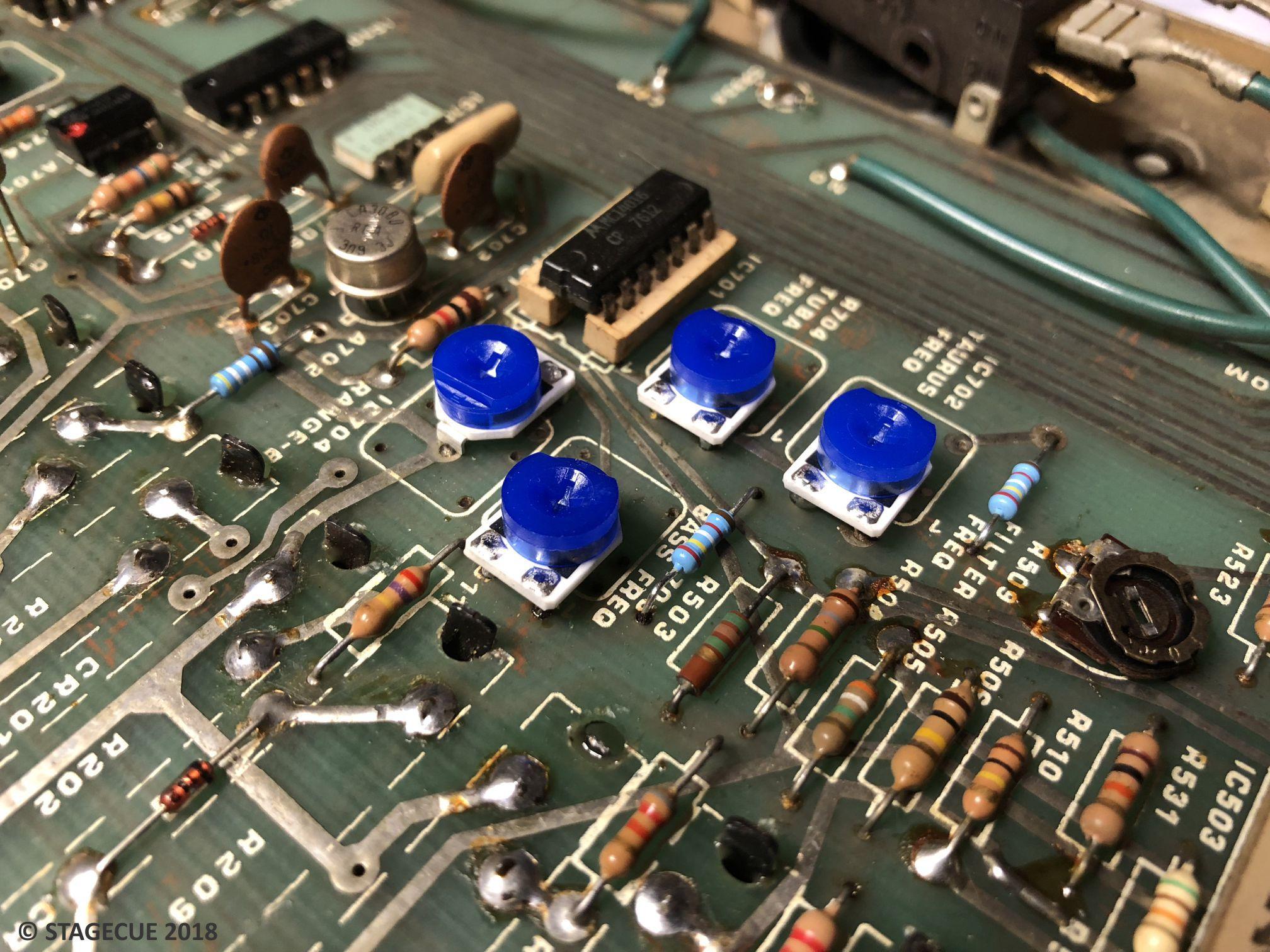 Moog Taurus 1 Bass Pedals Schematics 2 Restoration Repair 21